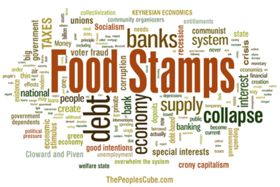 U.S. financial industry to replace dollars with food stamps.