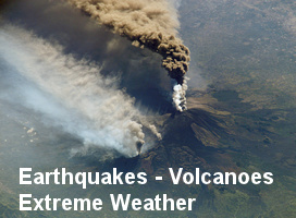 Earthquakes, volcanoes, extreme weather, animal kills, earth changes. [image: NASA/ETPR]