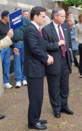 Eric Cantor (R-VA) and David McKinley (R-WV) [photo credit: DBKP/Mondo Frazier]