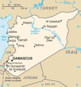 SYRIA: Chemical weapons use by government forces alleged.