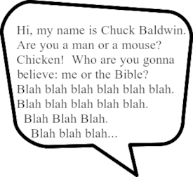 BALDWIN'S BACK: Chuck is up to his old ear-ticking tricks again...
