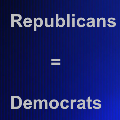 Republicans = Democrats = Libertarians = Communists = Whatever: There are no political solutions to spiritual problems.