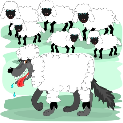 WOLF IN SHEEP'S CLOTHING: There are many wolves in America. Many of them hang out on Christian TV networks.
