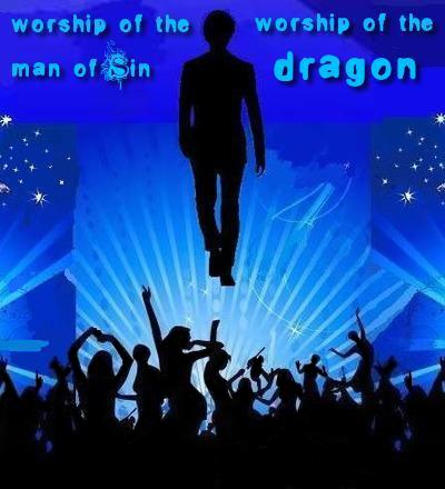 MAN OF SIN: The apostate Church will worship both the man of sin and the dragon.