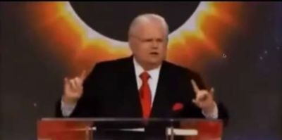 JOHN HAGEE: Let's here for my master, Satan.