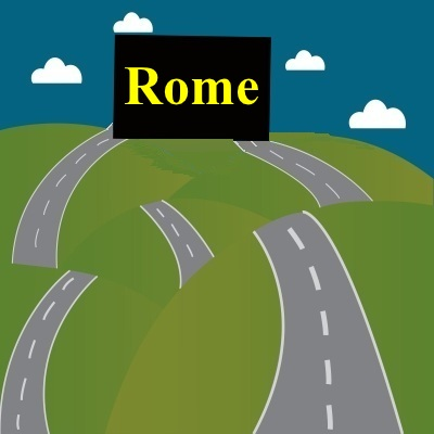 ALL ROADS LEAD TO ROME: But many of them continue on to other places.