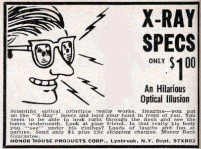 BMW X-ray specs