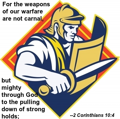 WEAPONS OF OUR WARFARE: Don't fight spiritual battles using carnal weapons.