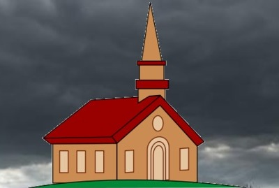 A STORM IS COMING: Don't seek refuge in a church. Call out to God. Repent. Place your trust in Jesus Christ for Salvation.