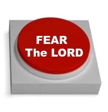 FEAR THE LORD: Be not wise in thine own eyes: fear the LORD, and depart from evil.
