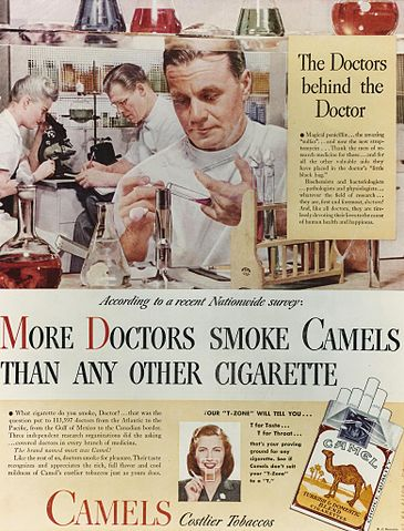 doctors in cigarette advertising