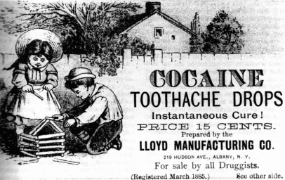 Cocaine tooth drops