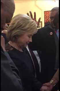 Hillary Clinton anointed/lay hands on