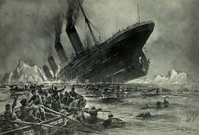 Titanic: sinking ship