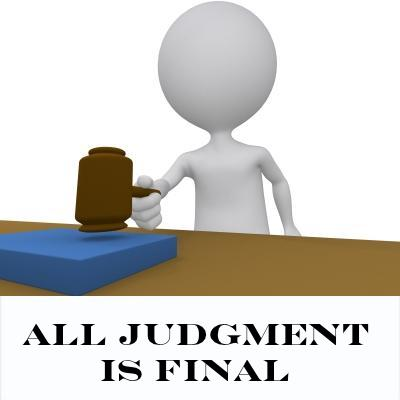 ALL judgment is final.
