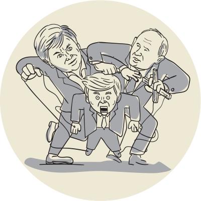 political pro wrestling: puppets