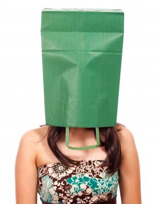 bag on head