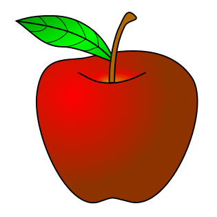 apple, red
