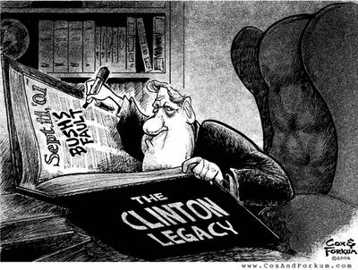 Clinton legacy - Cox & Forkum