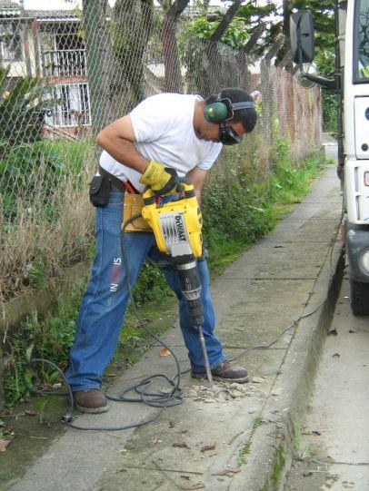 work: jackhammer