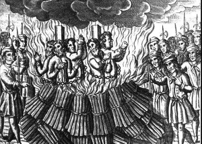 inhuman burning at the stake