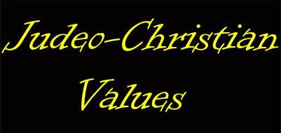 Judeo-Christian values