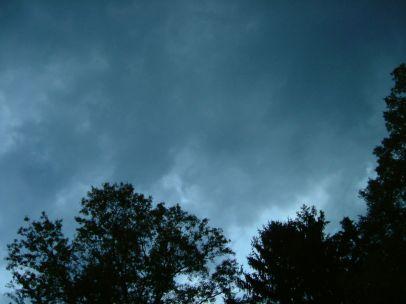 Sky darkened