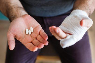 affliction: sore hand