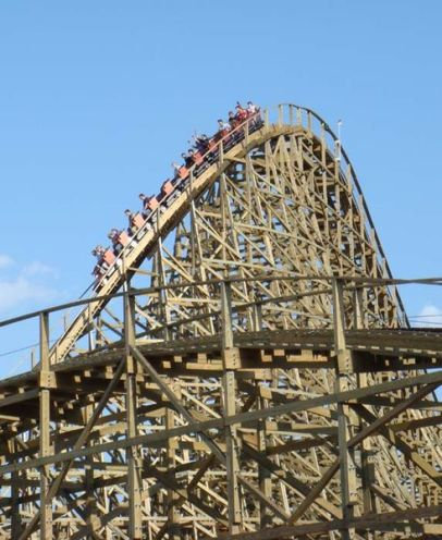 over the top: roller coaster