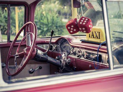 car - retro interior