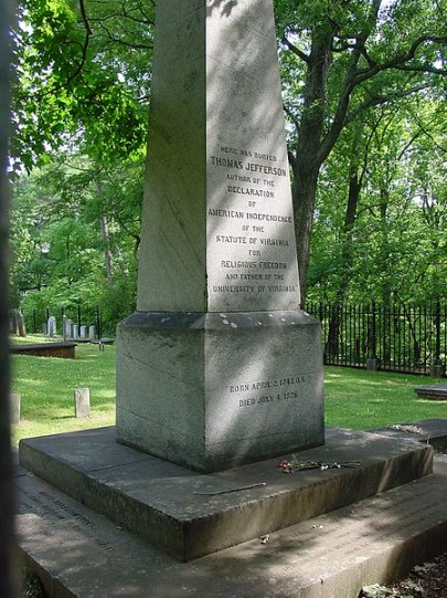 Thomas Jefferson grave site