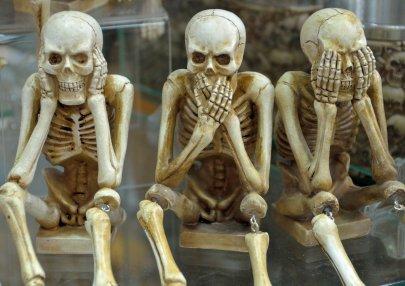 skeletons, evil