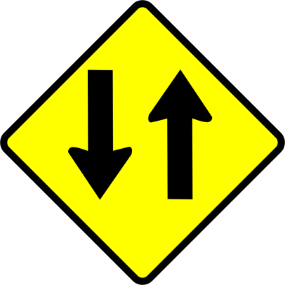 two-way traffic sign