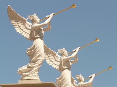 angels, trumpets